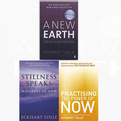 Eckhart Tolle's Power of Now Collection 3 Books Set A New Earth,Practising New
