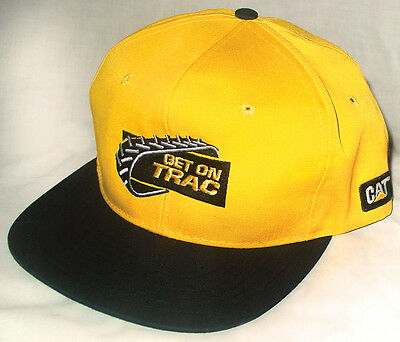 Vtg 1990s Snapback Hat CATERPILLAR CAT tractor bulldozer machinery diesel power