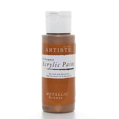 DoCrafts Artiste Bronze Metallic Acrylic Craft Paint - 59ml