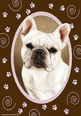 Large Indoor/Outdoor Paws Flag - White French Bulldog 17213