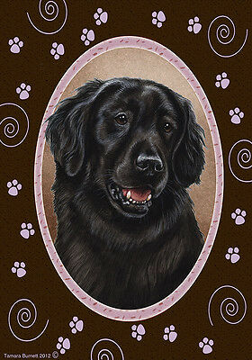 Large Indoor/Outdoor Paws Flag - Flat-Coated Retriever 17079