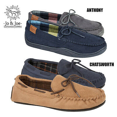 Mens Gents Faux Suede Slip On Moccasin Shoes Slippers Loafer UK 7 8 9 10 11 12