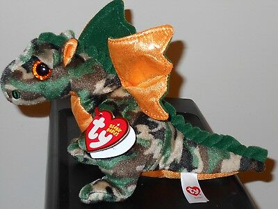 73877698340 Ty Beanie Baby ~ RAZOR the Camo Dragon ~ MINT with MINT TAGS ~RETIRED ~