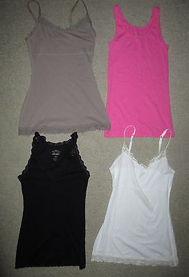 Lot of 5 Women's Tank Top Sleeveless Shirt Size S/P S M/M Pink Black Taupe White