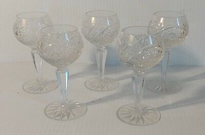 5 Cut Glass Durand glasses goblets cordials? crystal Excellent Condition