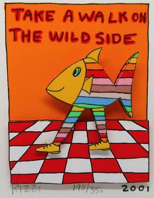 James Rizzi » Take A Walk On The Wild Side«  Seltenes 3D  aus 2001