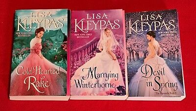 LOT of 3 RAVENEL SERIES by LISA KLEYPAY, Cold-Hearted Rake, Marrying Winterborne