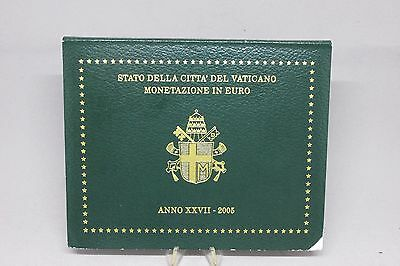 Vatican FOLDER 2005 3,88 euro set 1c -2 euro UNC His Holiness Pope John Paul II