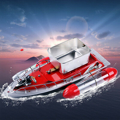 Mini RC Wireless Fishing Lure Bait Boat 200M Remote Control for Finding Fish Red