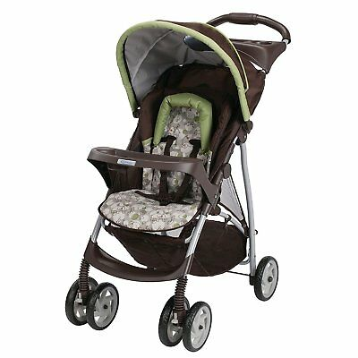 Graco LiteRider Lightweight Click Connect Convertible Infant Baby Stroller, Zuba