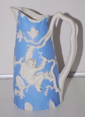 Rare Antique TJ & J MAYER LONGPORT Relief Bird Nesting Ceramic Jug Pitcher
