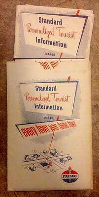 Vintage 1950's Standard Oil Co. Personalized Tourist Information Packet /Booklet