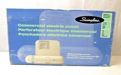 Swingline 28-Sheet Commercial Electric Two-Hole Punch - 74532 - New