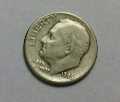 Roosevelt Silver Dime 1946-D 90 % silver u.s. coin collection