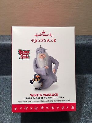 New 2016 Hallmark Winter Warlock Santa Clause Is Coming To Town Ornament Mib