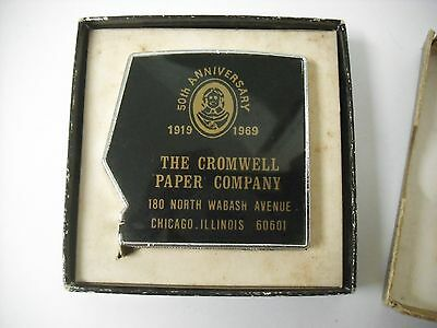 1969 Pocket Tape Measure The Cromwell Paper Co. 50th Anniversary Advertising