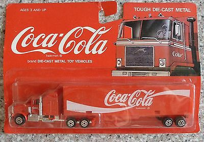 Coca Cola Die-Cast Metal Toy Vehicles Tractor Trailer Truck, COKE New In Package