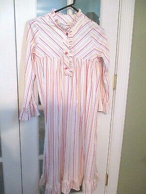 American Girl CL KIT'S STRIPED NIGHTIE SIZE LARGE for Girls Pajamas Nightgown