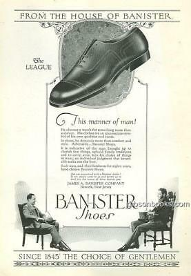 1925 National Geographic Banister Shoes Magazine Advertisement