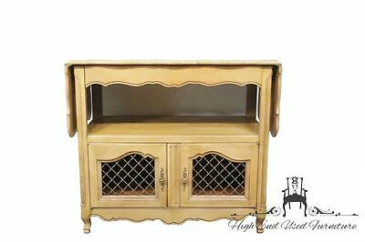 GEORGETOWN GALLERIES Solid Cherry French Provincial Drop Leaf Serving Cart