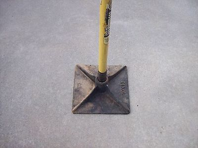 "5kg (10""x10"") Cast Iron Hand Compactor Tamper Plate (Not Including Handle)"