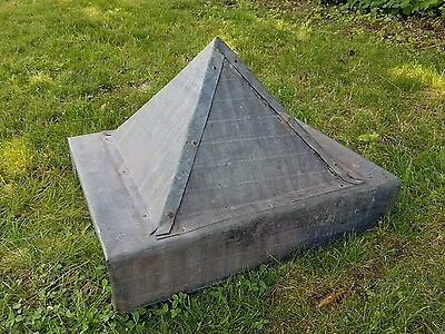 Antique Tin Galvanized Barn Roof Cupola Vent Roof