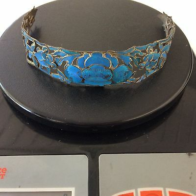 Antique Chinese Tiara Diadem Headband Kingfisher Feathers As Is