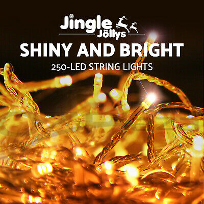 250 LED Christmas String Lights Fairy Party Wedding Outdoor Garden Warm White