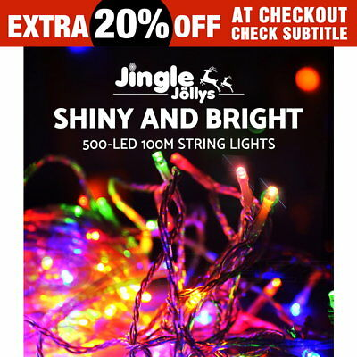500 LED 100M Christmas String Lights Fairy Party Wedding Outdoor Multi Colour