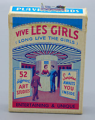 """vive  Les  Girls""  Nude  Pin-Up  Playing  Cards Deck Of 54 Vintage Frederic Ent"