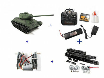 Henglong HL 1/16 R/C S&S 2.4G Russian T-34/85 Tank with Metal Upgrades