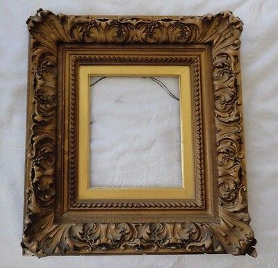 "Large 20"" x 18 Antique 19th C Carved Wood Gold Gilt Portrait Painting Frame"