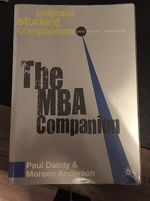 The MBA Companion by Moreen Anderson, Paul Dainty (Paperback, 2008)
