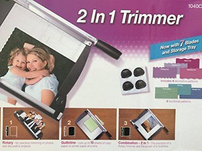 Purple Cows 12in Two-In-One Scrapbook Combo Trimmer, New