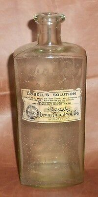 c1910 Antique Baltimore Pharmacy Bottle Read Drug and Chemical Co