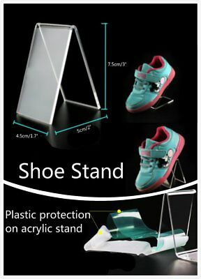 2 4 10 x V Shape Protection Clear Acrylic Shoes Retail Display Stand Rack Holder