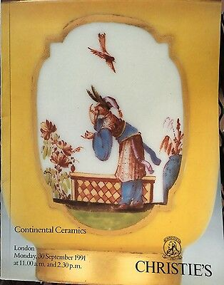 CHRISTIES Auction Catalog 9/30/1991 Continental Ceramics - London
