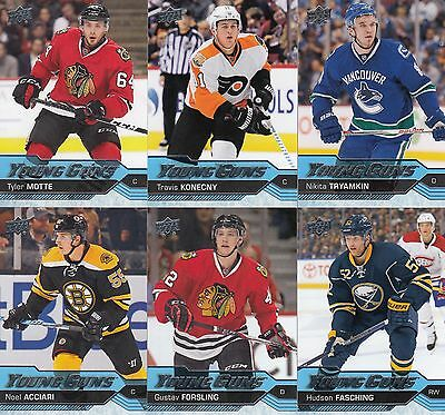 2016-17 Upper Deck Series 1 Young Guns [#201-250] U-Pick from List