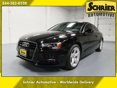 2014 Audi A5 Base Coupe 2-Door 14 Audi A5 AWD Black Leather Panoramic Roof HID Headlights Turbocharged
