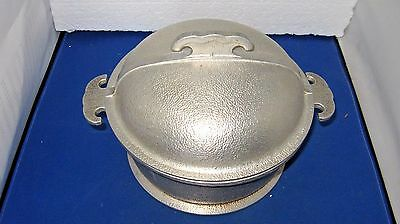 "Vintage Guardian Service Cookware 7 1/4"" Wide Aluminum Casserole Pan With Lid"