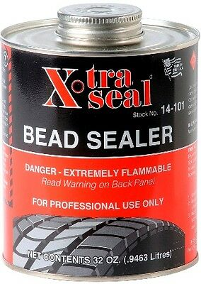 X-TRA SEAL Tire Bead Sealer - Black w/Brush Top Can - 1 Quart PROFESSIONAL