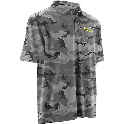Huk Men's Performance Grey Camo Polo - 1200008 - Size Small