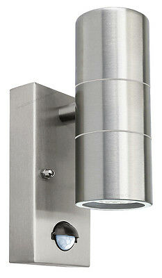 PIR Stainless Steel Up Down Outdoor Wall Light With Movement Sensor ZLC0204 IP65