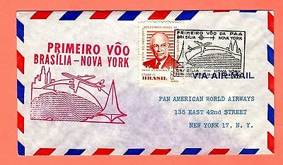 1960  PAWA FAM 5, Primeiro, Brazil to New York 4/20/60 cover
