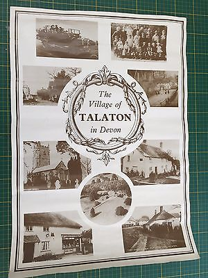 "Poster Print Of The Village Of Talaton In Devon 23""x16"""
