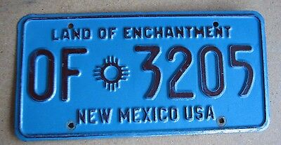 """New Mexico Official State Vehicle  License Plate  """" Of 3205 """"  Rare Type Exempt"""