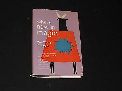 What's New In Magic Book by Walter B Gibson First Edition DJ 1956 (g59)