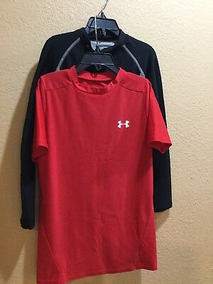 Under Armour  fitted shirt size youth large YL ...(2 Shirts)