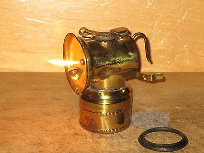 Miners  JUSTRITE 1913 CARBIDE LAMP-WORKING!! NICE!!
