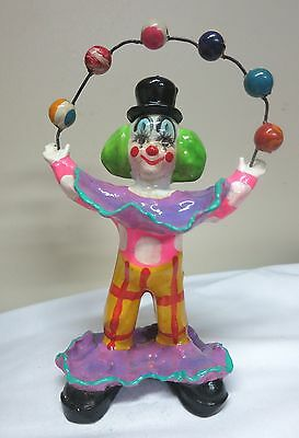 Vintage Juggling Clown Hard Plastic Wire Connect Balls